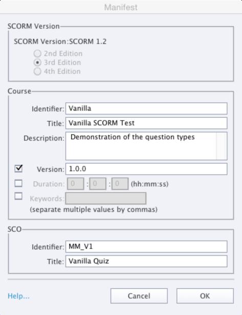 configure scorm1.2
